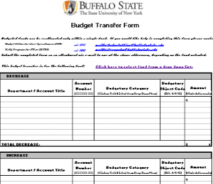 Budget Transfer Form
